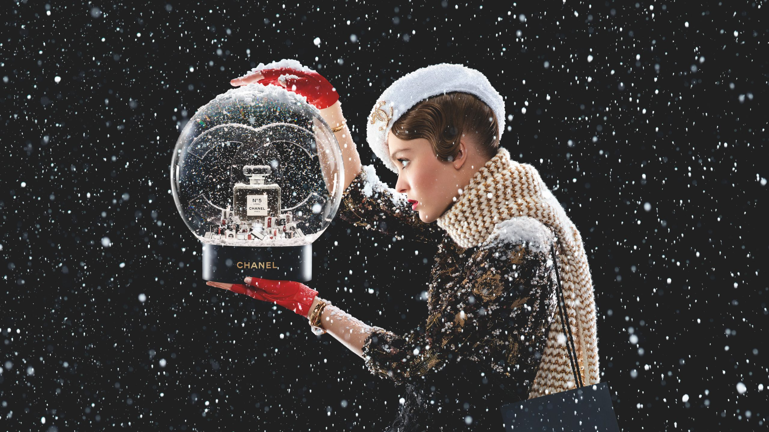 Chanel adds a touch of theatre to its festive campaign by Jean-Paul Goude