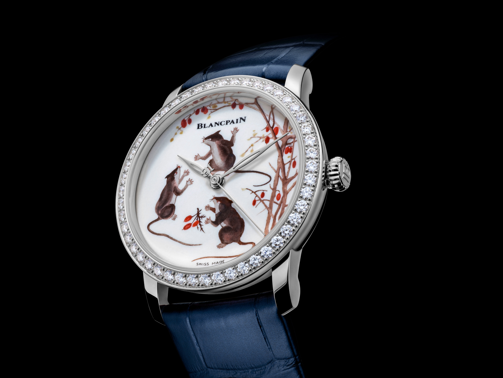 Blancpain celebrates the Year of the Rat with their first-ever porcelain dial