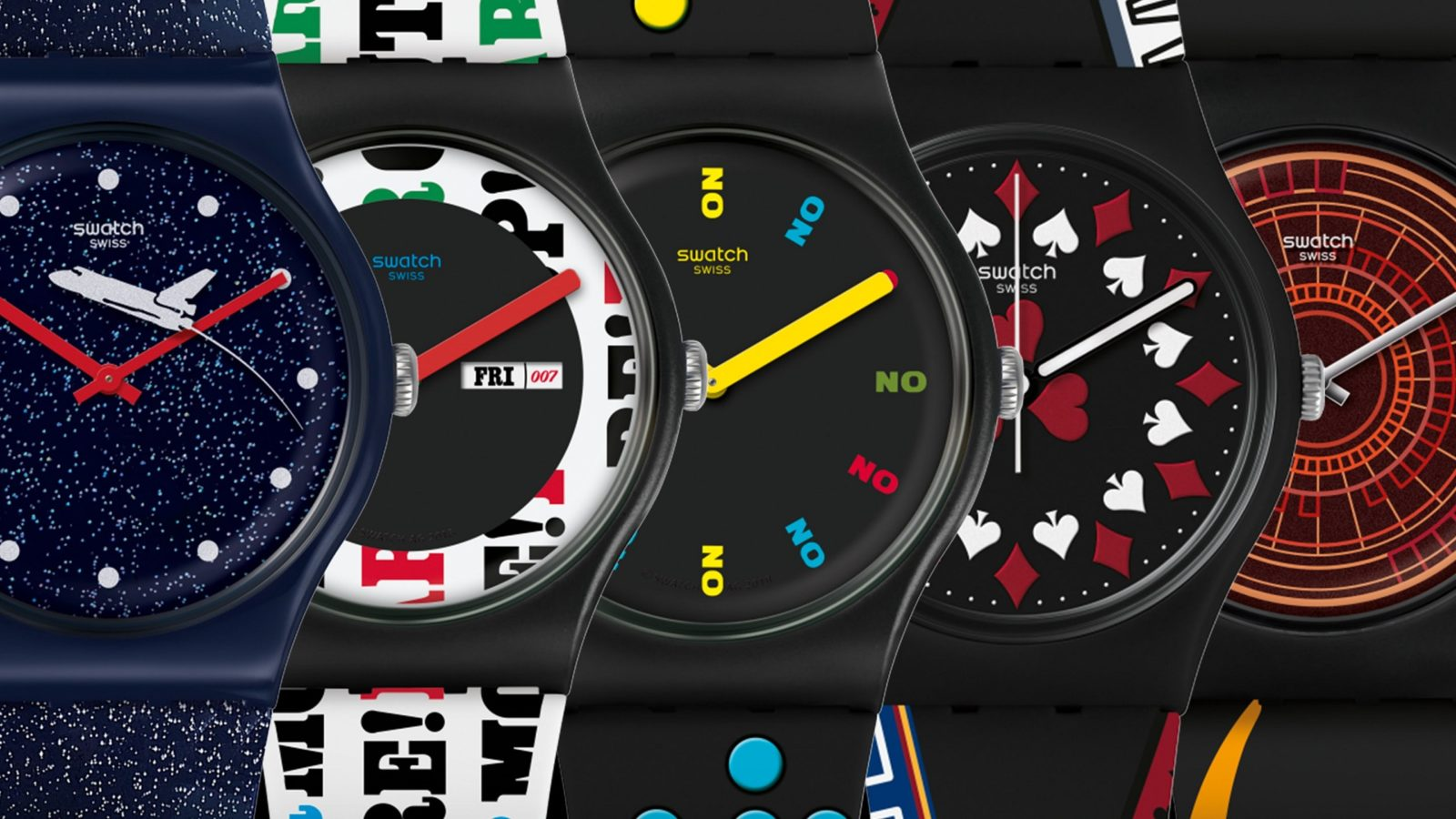 The Swatch x 007 collection: Six iconic James Bond films, retrofitted as wrist wear