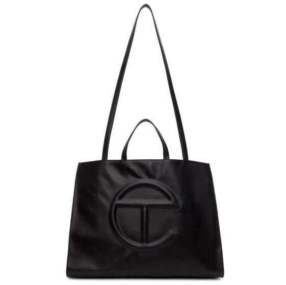 Telfar: Black large shopping bag