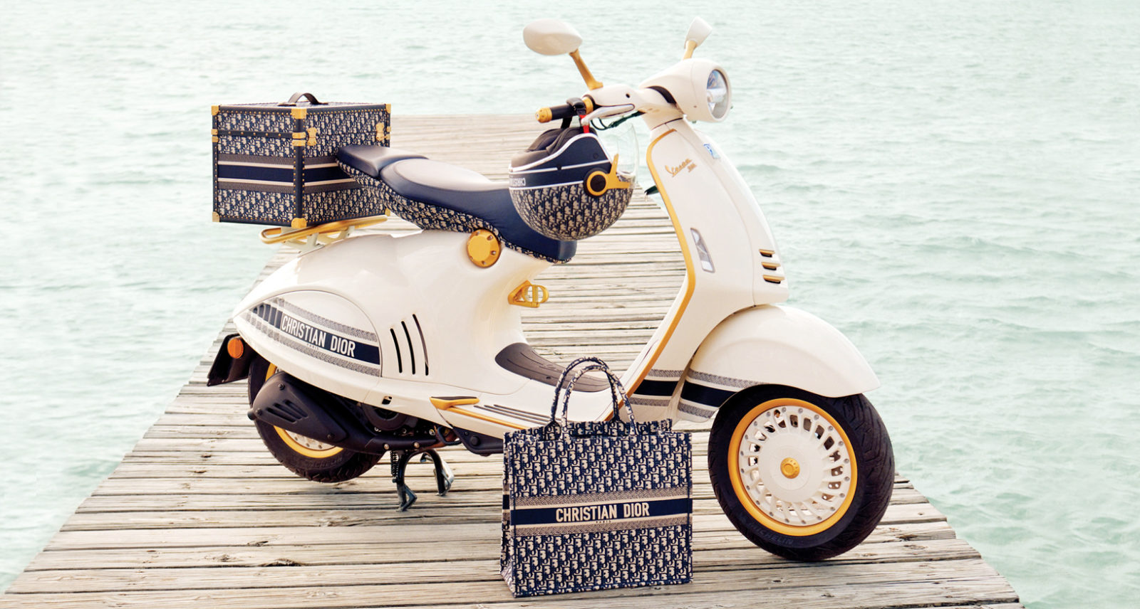 Dior and Vespa partner up for a limited-edition scooter
