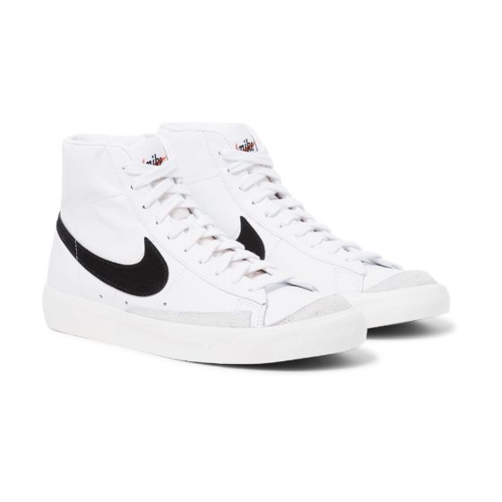 Nike Blazer Mid '77 Suede Trimmed Leather Sneakers