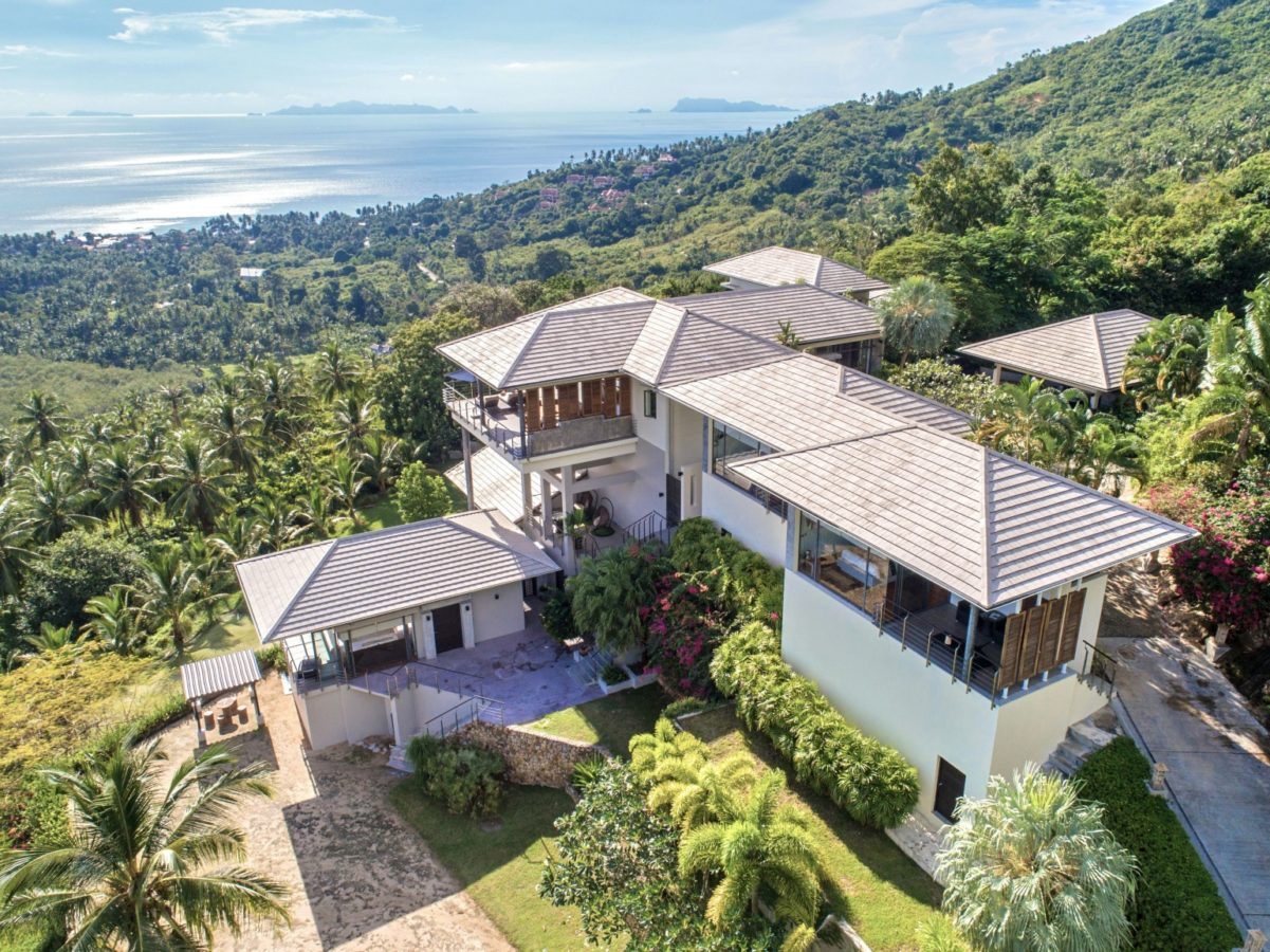 Baan View Talay offers a private bird's eye view over Koh Samui
