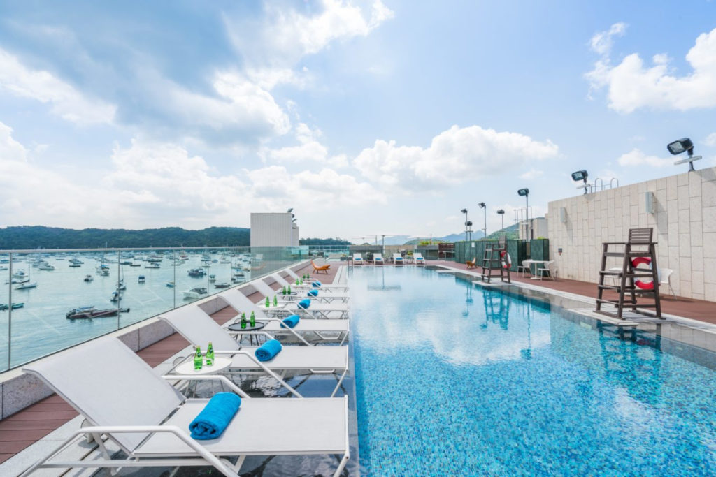 The Pier Hotel Rooftop Pool Sai Kung Hong Kong