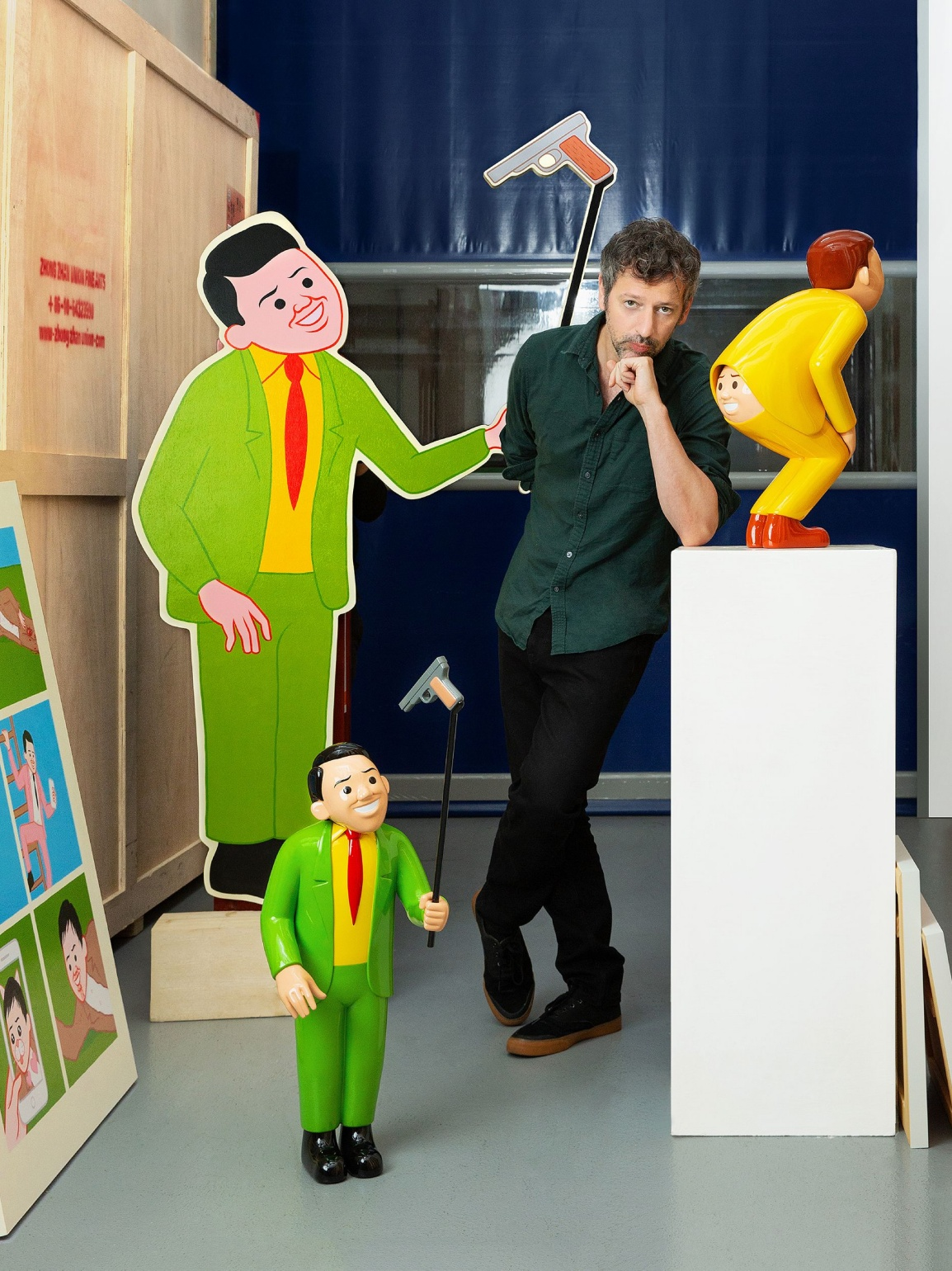 Joan Cornellà's My Life is Pointless exhibition Sotheby's AllRightsReserved