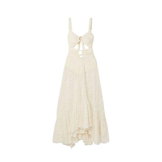 PatBo's floral lace maxi dress