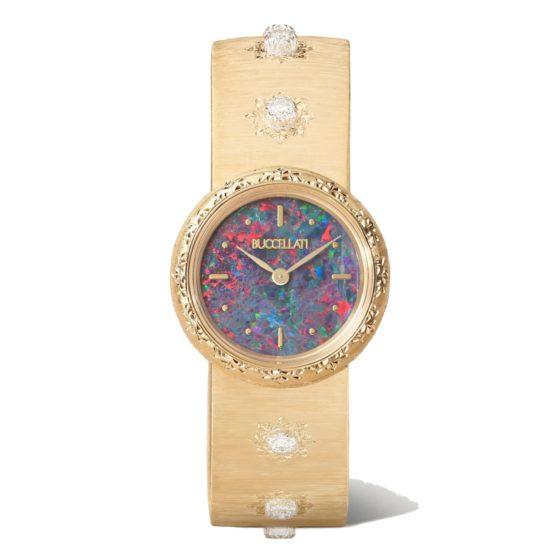Buccellati's Macri 18-karat gold, opal and diamond watch