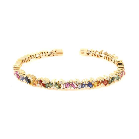 Suzanne Kalan's Rainbow Frenzy sapphire bangle