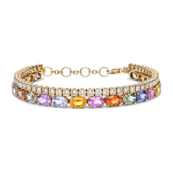 Pragnell's sapphire and diamond bracelet