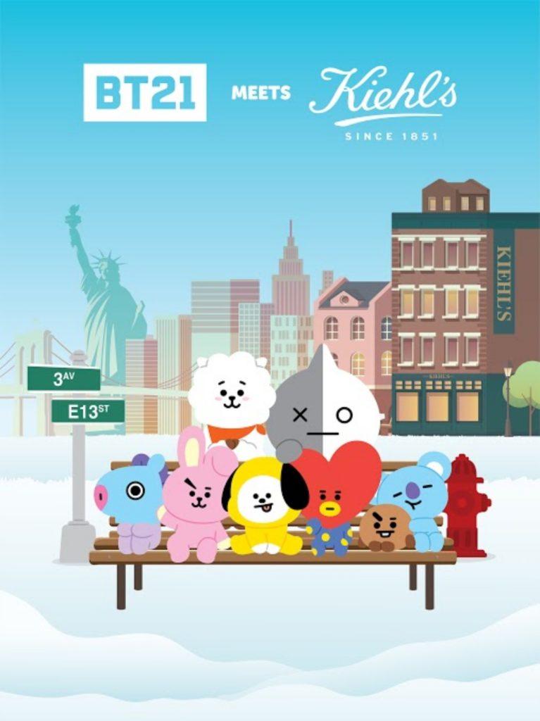 kiehl's in new york bt21 pop up