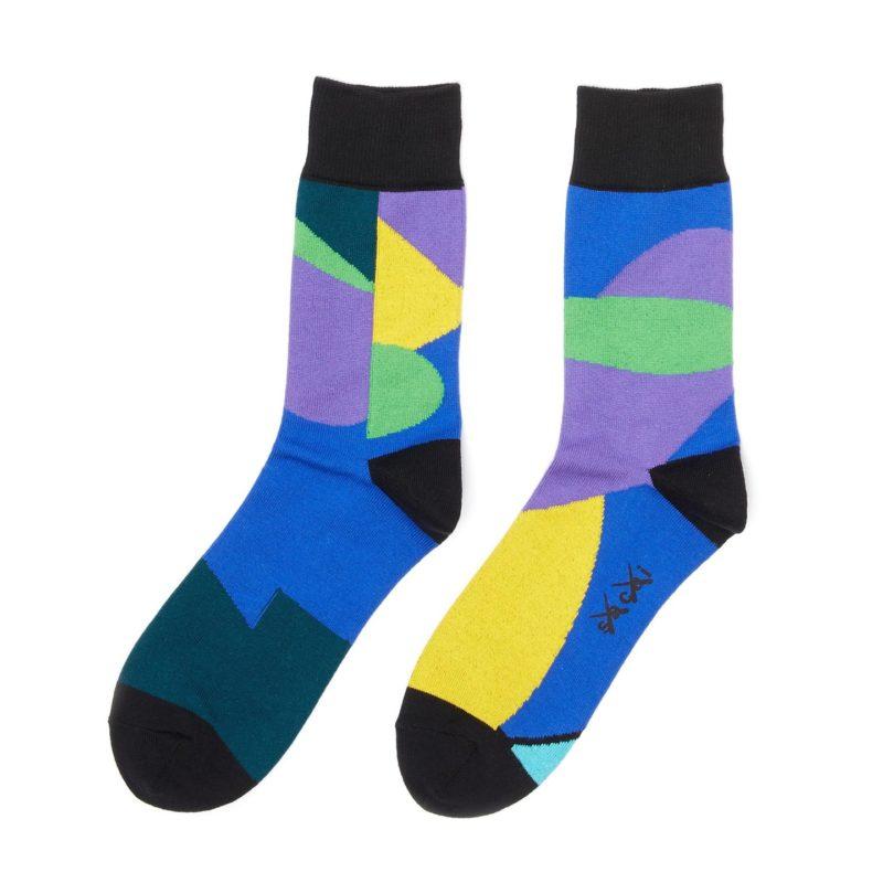 sacai x KAWS' printed socks