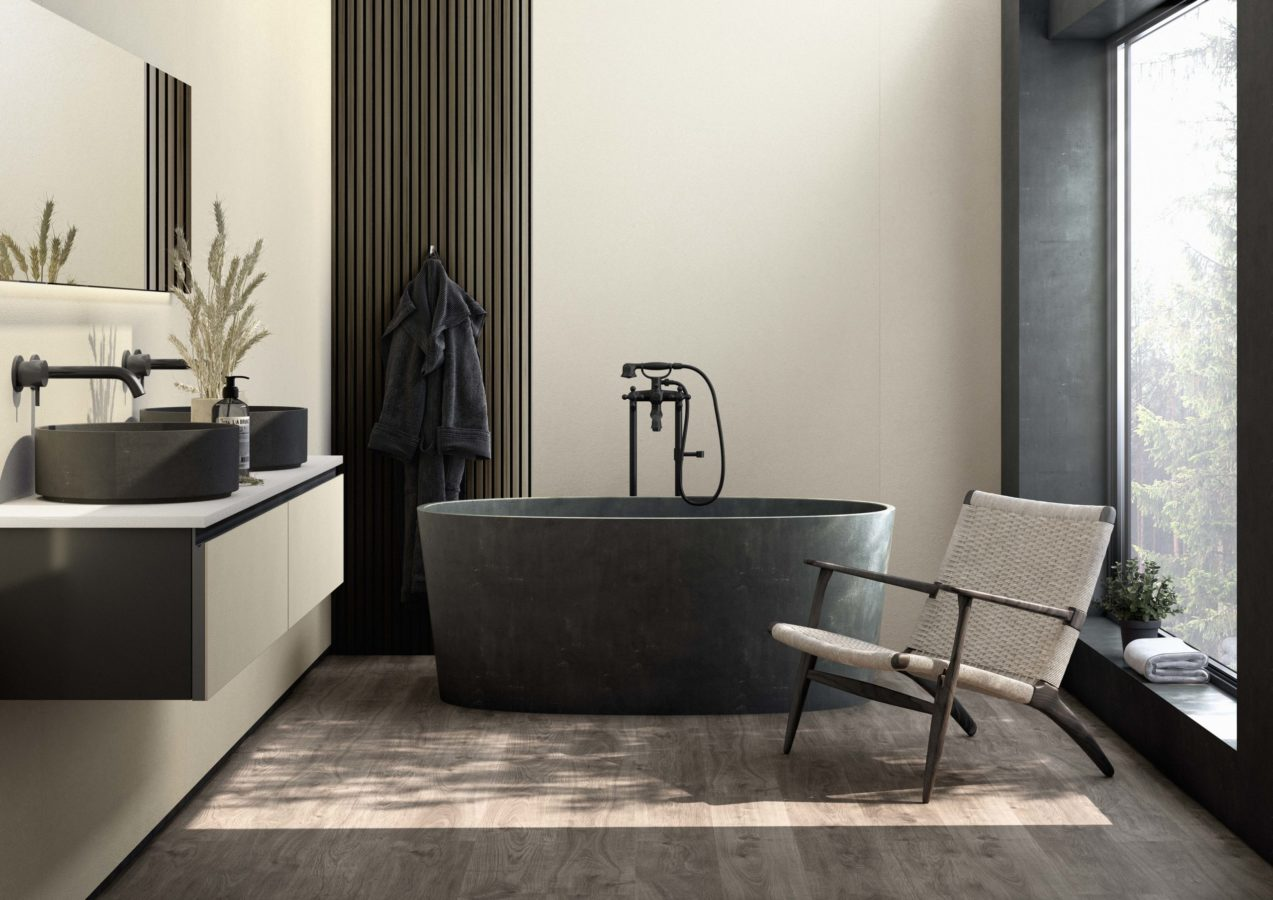 How to decorate your bathroom in fifty shades of grey and white