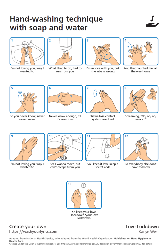 Washing hands songs