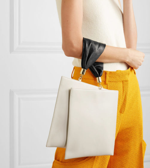 Obi leather tote by The Sant