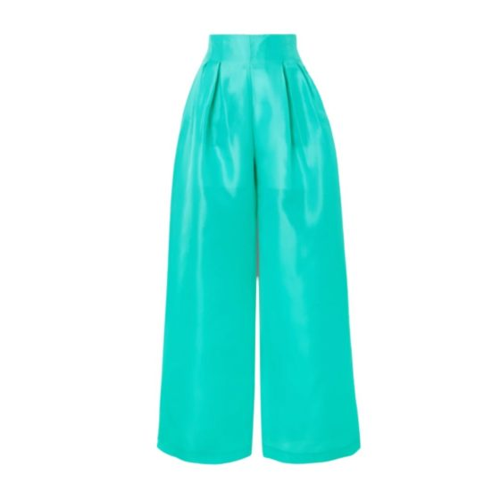 Christopher John Rogers silk-gazar wide-leg pants