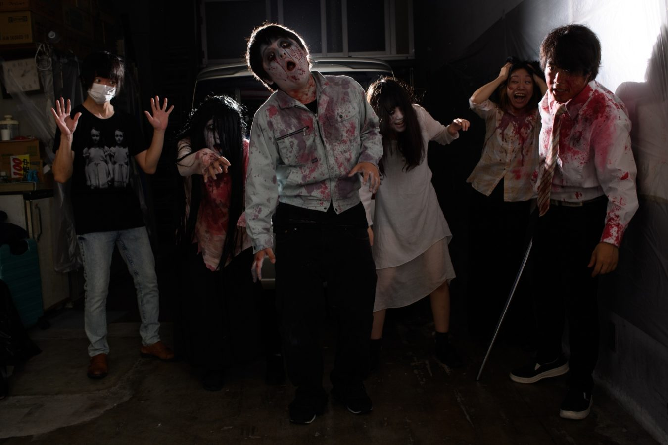 Social distancing, but make it spooky: Japan launches a drive-in haunted house