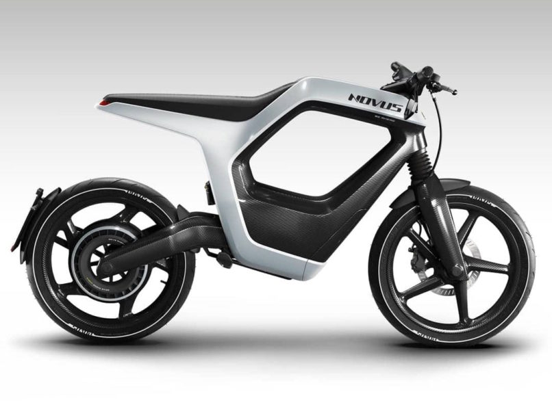The Novus Bike is a single-seater. it used a carbon-fibre frame weighing only 7 kilograms.