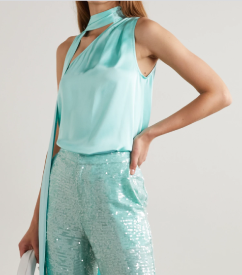 Lapointe One-shoulder Satin Top