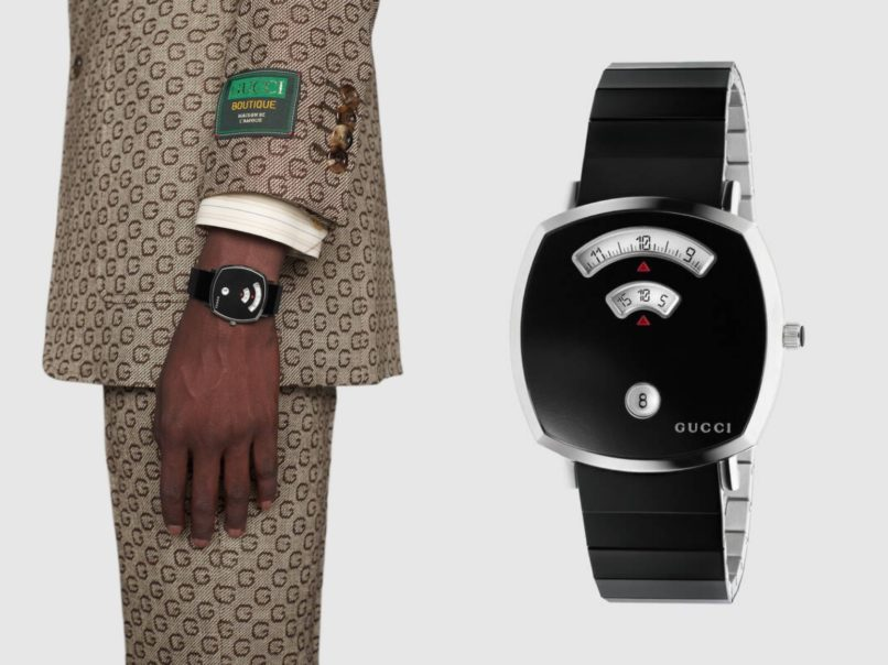 black dial watches gucci