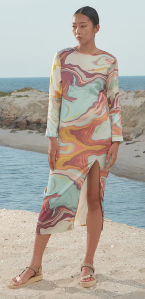 Everyday Apparels Marble Maxi Dress
