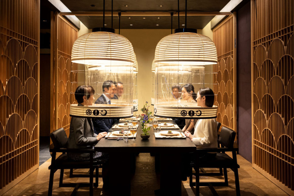 Tokyo gets creative with Covid-19 protection in restaurants