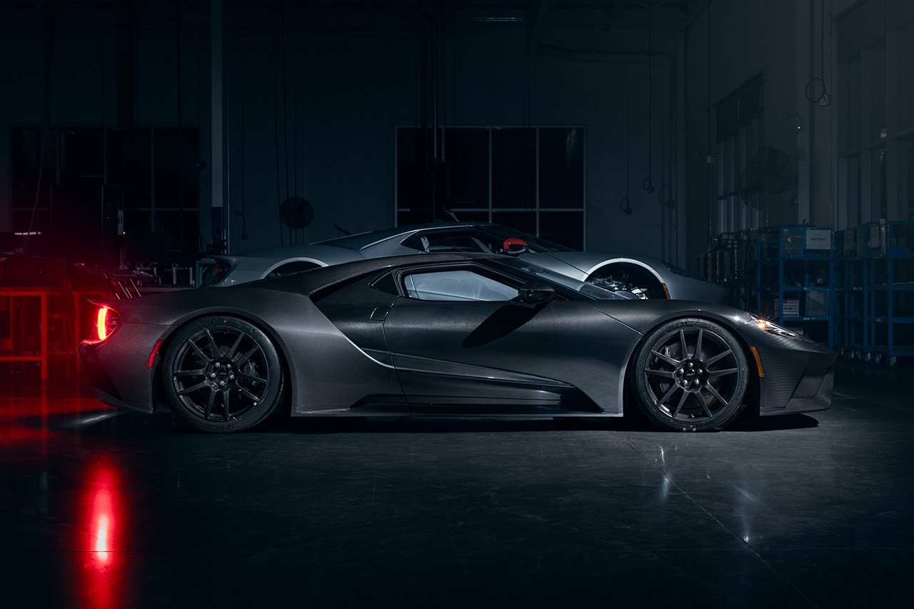The new 2020 Ford GT has an exposed carbon fibre body with a superior engine