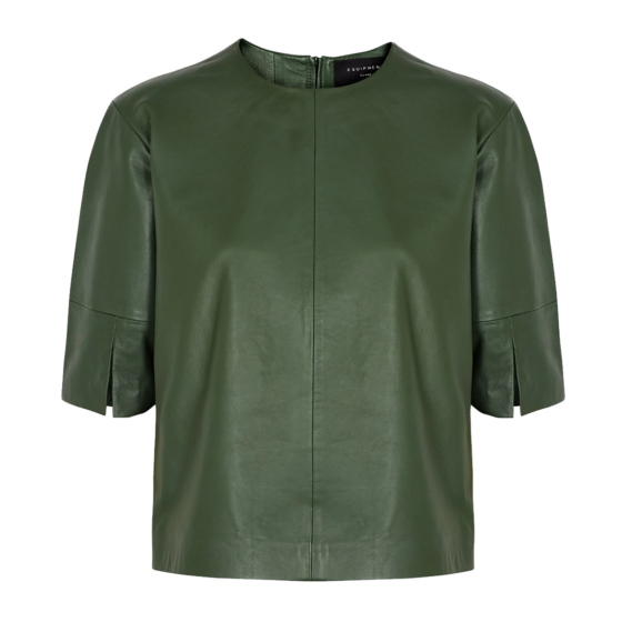 Equipment 'Abdelle' green leather top