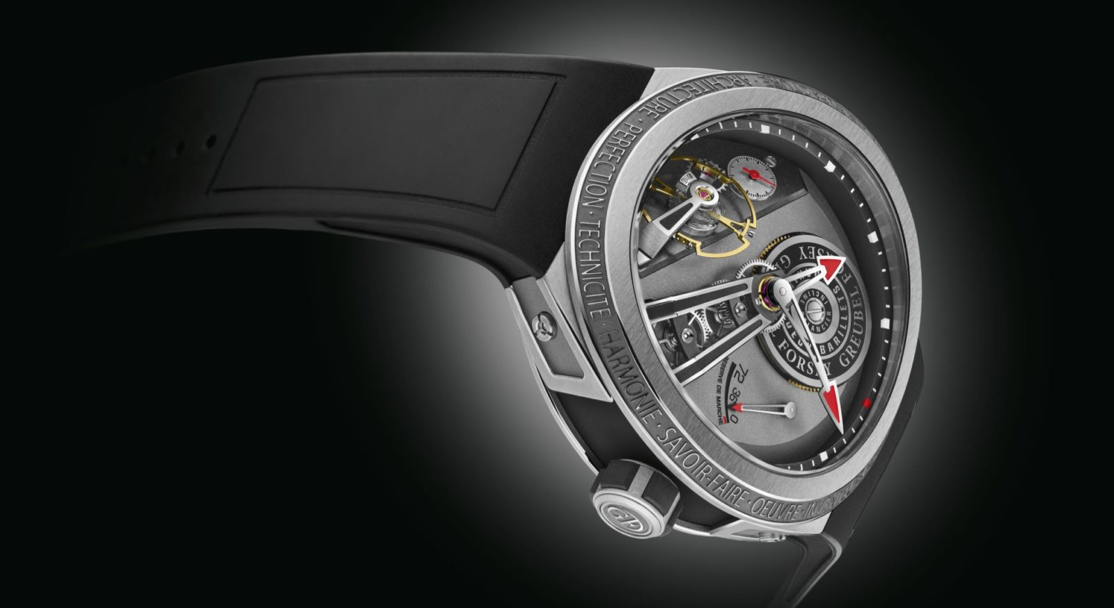 The Greubel Forsey Balancier S is a robust timepiece forged from titanium