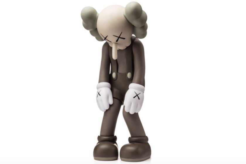 Kaws Small Lie Companion Figurine in Brown