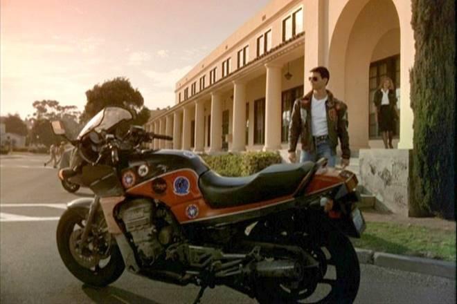 Top Gun motorcycles in film