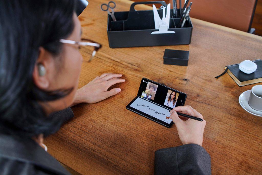 Samsung Galaxy Z Fold3 phantom black under-display camera