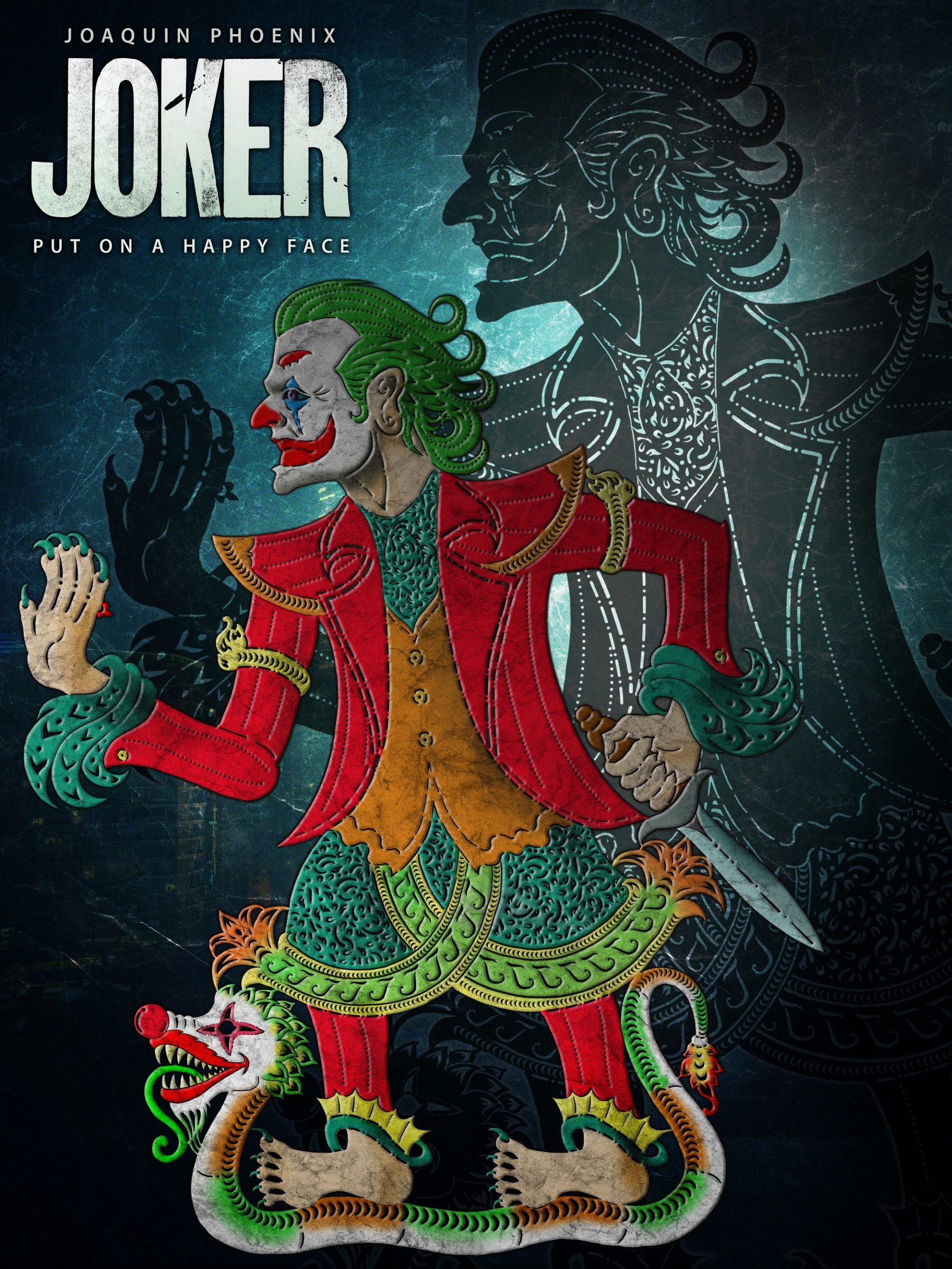 Joker inspired wayang kulit
