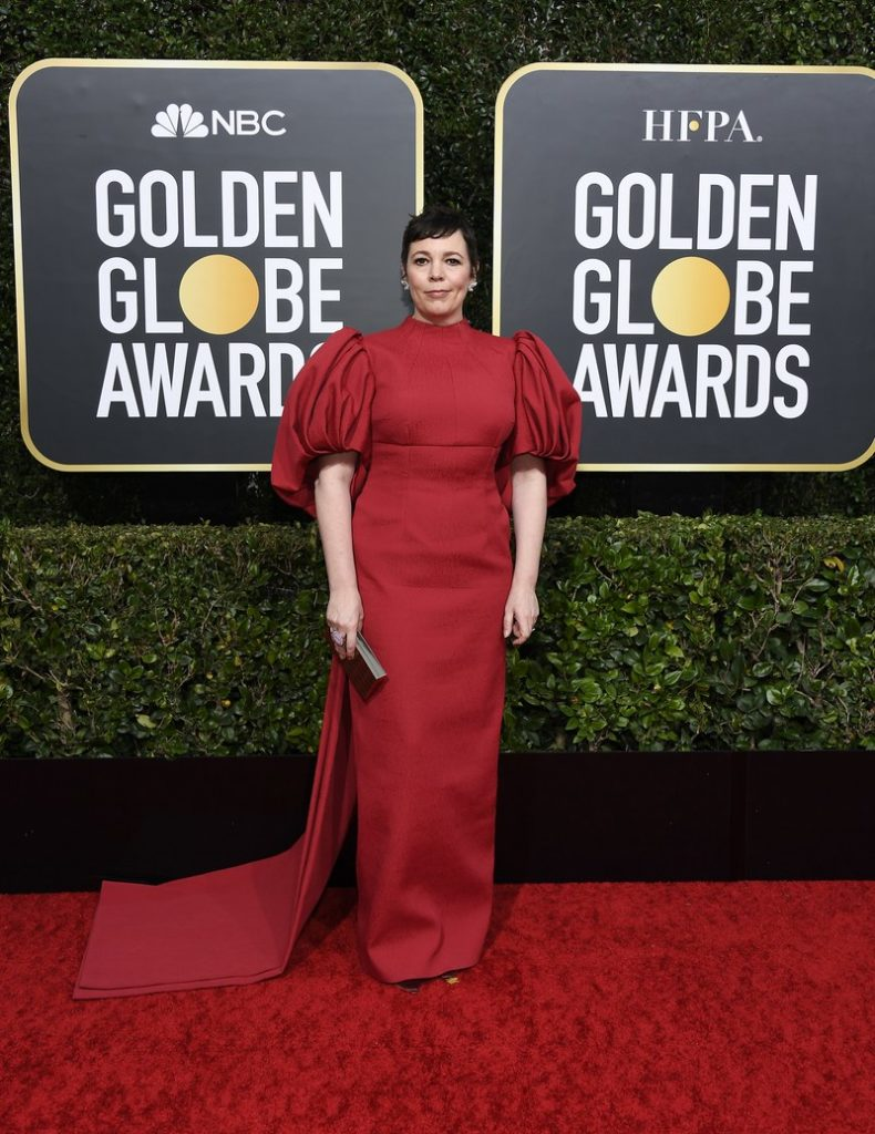 Olivia Colman in Emilia Wickstead at the Golden Globes 2020