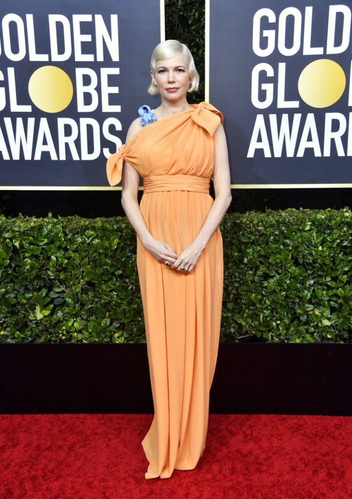 Michelle Williams in Louis Vuitton at the Golden Globes 2020