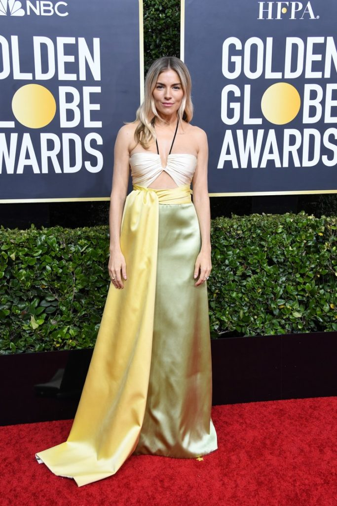 Sienna Miller in Gucci at the Golden Globes 2020