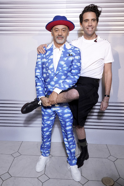 Christian Louboutin and Mika at Jean-Paul Gaultier SS20 Haute Couture show (Photo credit: Getty Images)