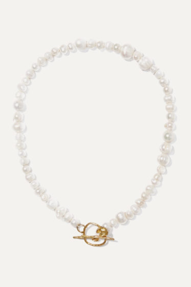 Anita Berisha gold-tone pearl necklace
