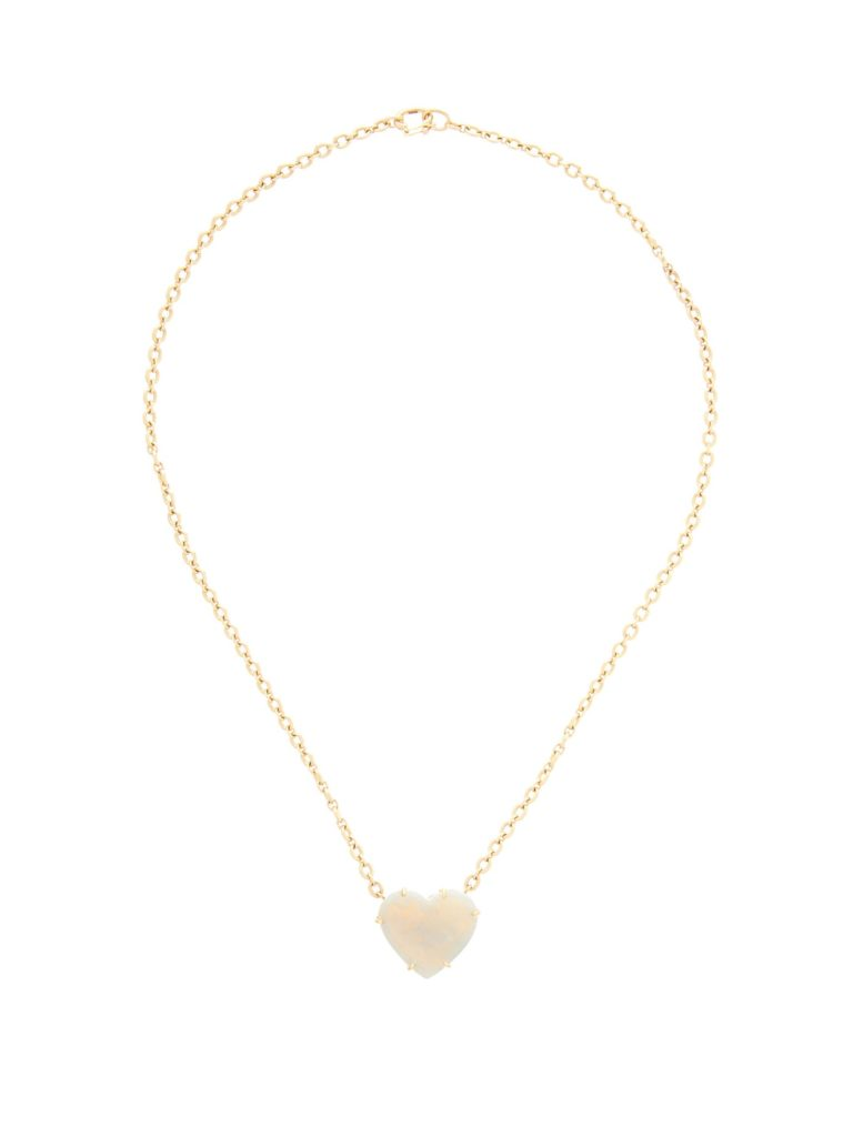 Irene Neuwirth heart opal & 18kt rose-gold necklace (Photo credit: Matches Fashion)