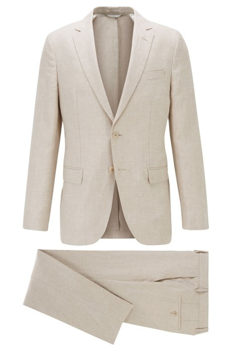 a completely vegan suit by Hugo Boss
