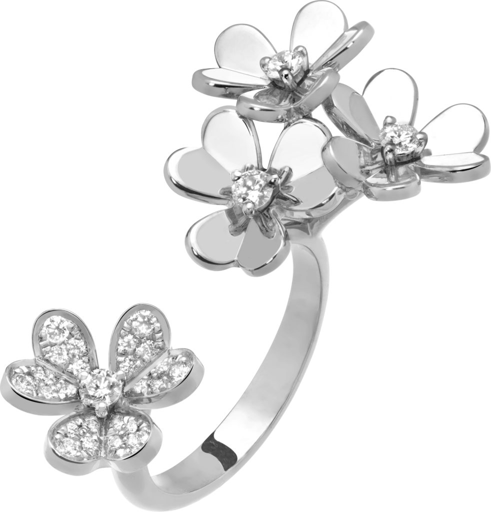 Frivole Between the Finger Ring in white gold (Photo credit: Van Cleef & Arpels)