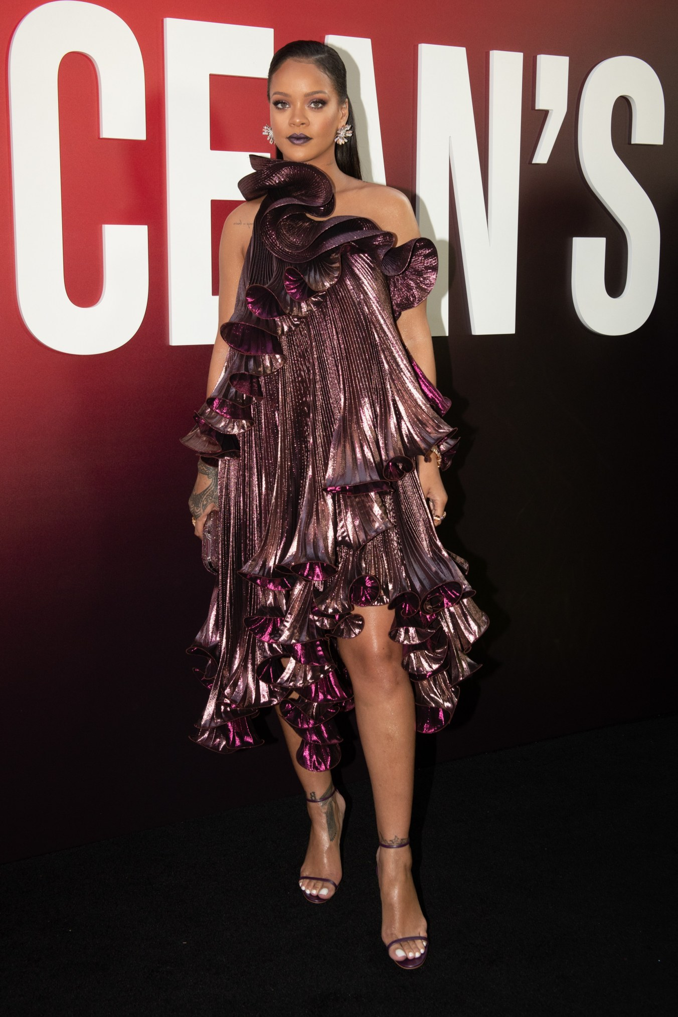 Rihanna at the Ocean's 8 premiere in New York (Photo credit: Getty Images)