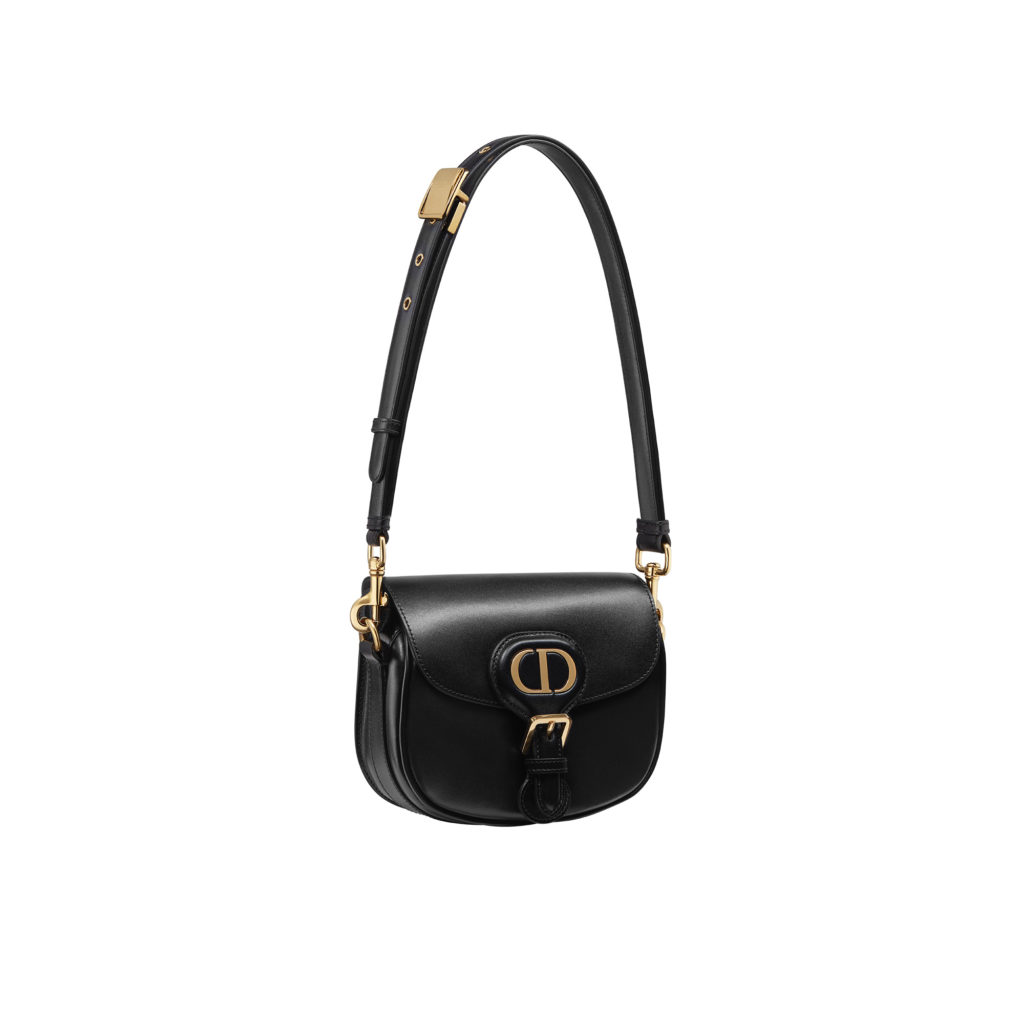 Small Dior Bobby bag in black box calfskin with detachable leather strap (S$4,600) (Photo credit: Dior)