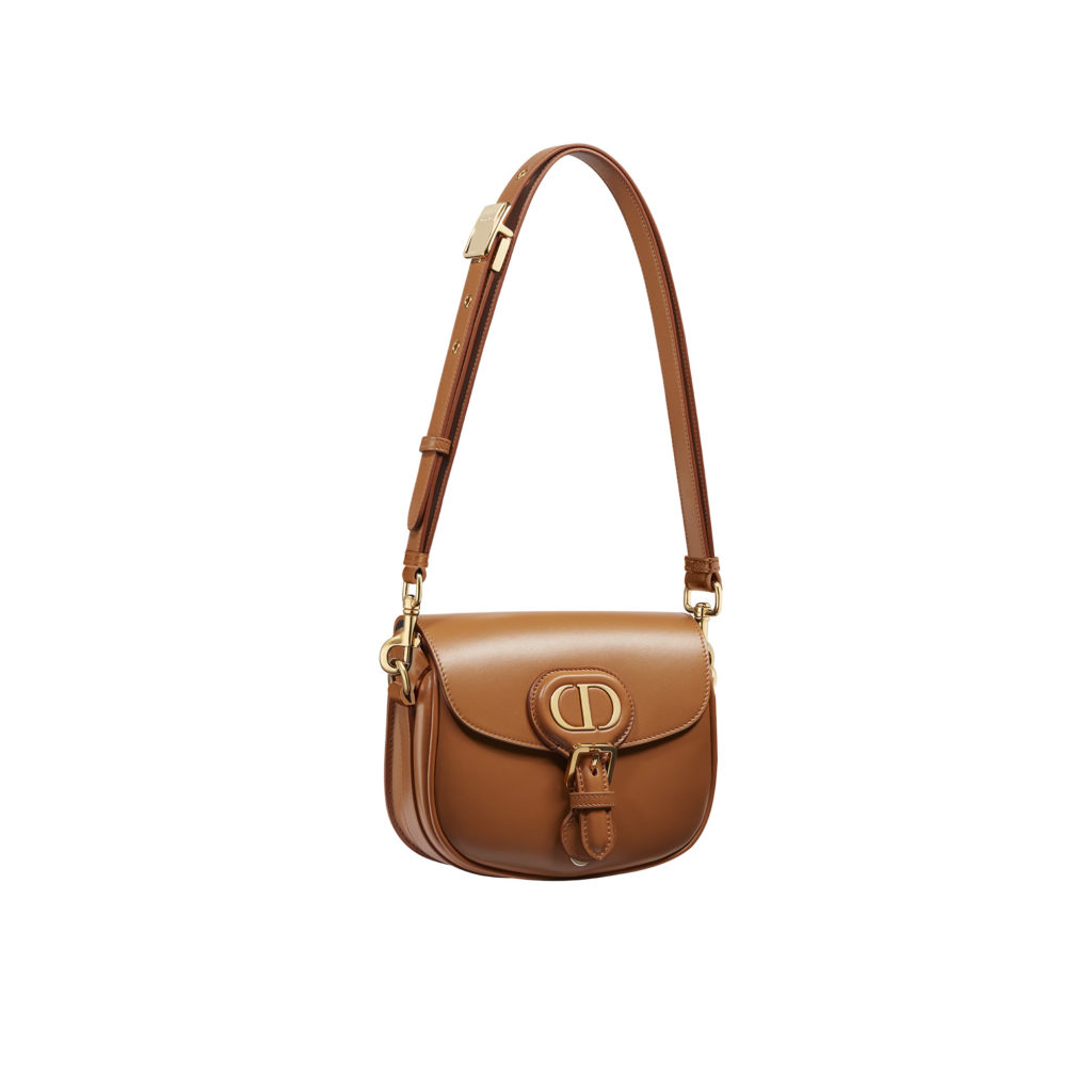 Small Dior Bobby bag in camel box calfskin with detachable leather strap (S$4,600) (Photo credit: Dior)