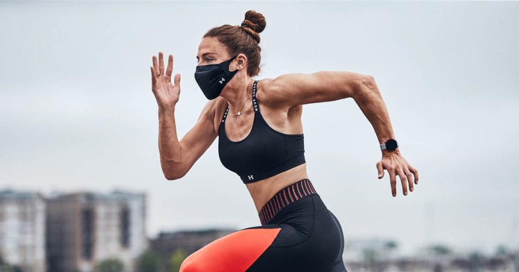 Under Armour's Sportsmask is a performance mask designed for exercising. (Photo credit: Under Armour)