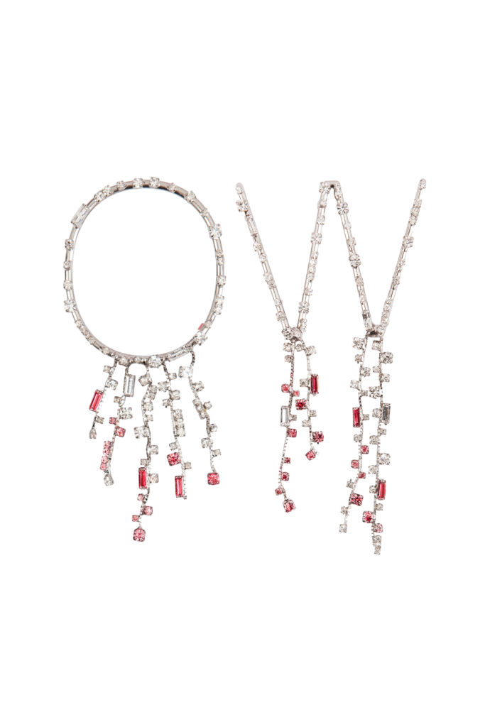 Paragon crystal earrings (S$1,190) (Photo credit: Off-White)