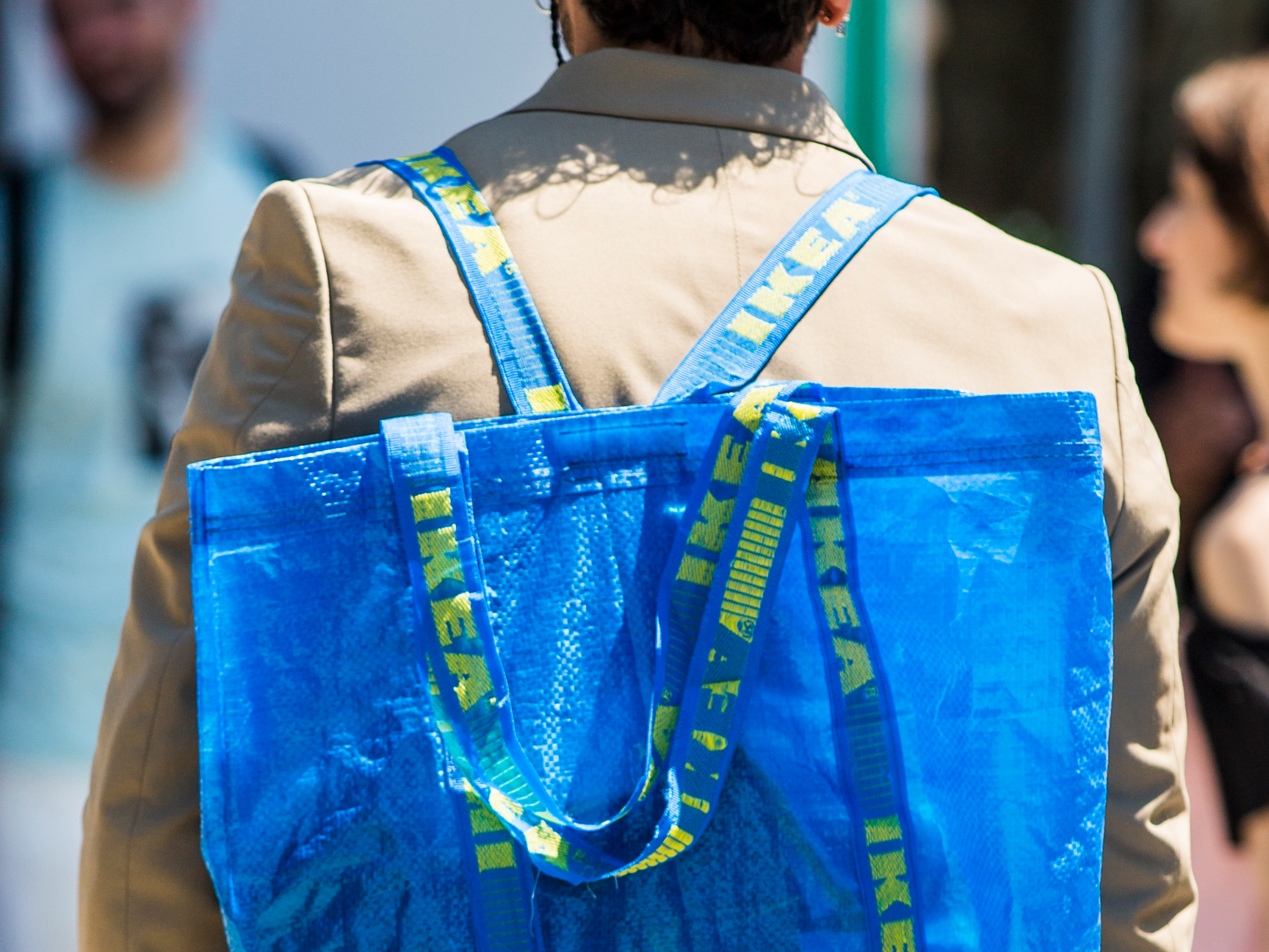 Balenciaga's sell-out Ikea bag, which retailed for US$2,145 (S$2,996). (Photo credit: Getty Images)