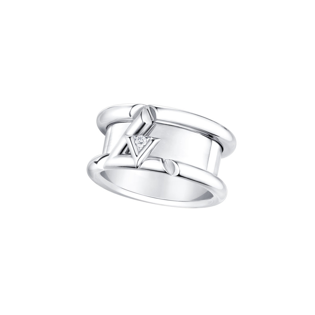 LV Volt One band ring in white gold with diamonds (S$6,700) (Photo credit: Louis Vuitton)