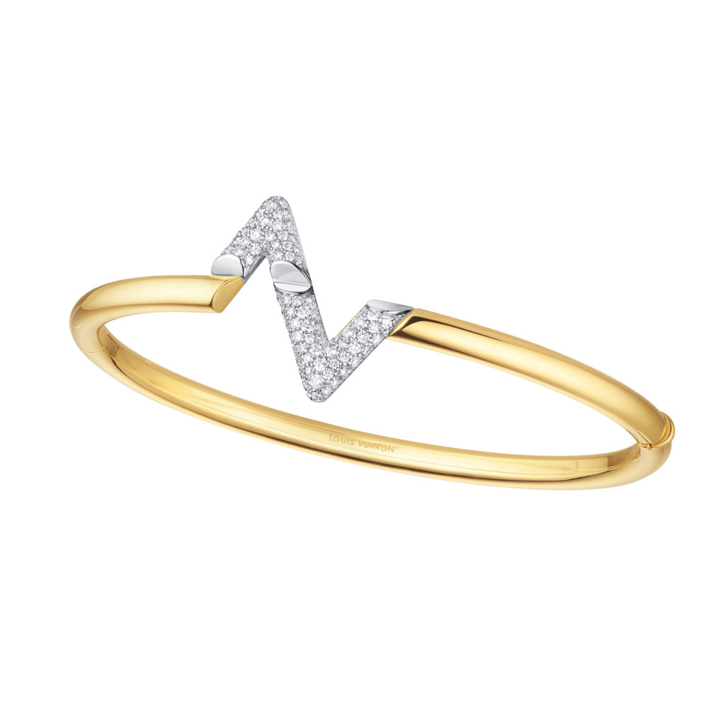LV Volt Upside Down bracelet in yellow and white gold with diamonds (S$18,900) (Photo credit: Louis Vuitton)