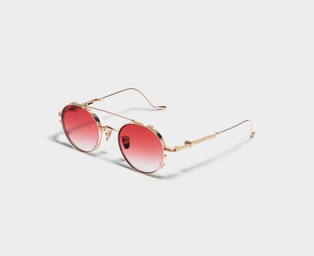 The Cub sunglasses in gold with red gradient lenses. (Photo credit: Gentle Monster)