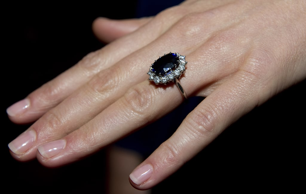 Kate Middletons engagement ring, which was belonged to Princess Diana, features a 12-carat sapphire mined from Sri Lanka. (Photo credit: Getty Images)